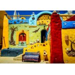 Puzzle Bluebird Colorful African Village 1500 piese