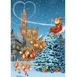 Puzzle Bluebird Francois Ruyer Cathedrale de Strasbourg a Noel 100 piese