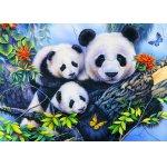 Puzzle Bluebird Panda Family 100 piese