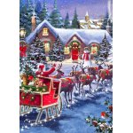Puzzle Bluebird Santa And Sleigh 1000 piese