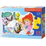 Puzzle contur Castorland Little Red Riding Hood 15 piese