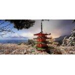 Puzzle panoramic Educa Mount Fuji and Pagoda Chureito Japan 3000 piese include lipici