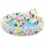 Set piscina gonflabila + colac + minge Intex 59460 multicolor