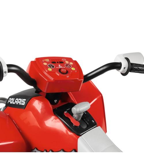 ATV Peg Perego Polaris Outlaw 330 W 12V 3 ani+ negru rosu