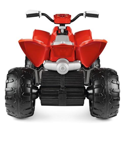 ATV Peg Perego Polaris Outlaw 330 W 12V 3 ani+ negru rosu - 1