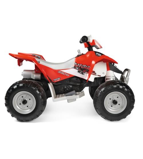 ATV Peg Perego Polaris Outlaw 330 W 12V 3 ani+ negru rosu - 3