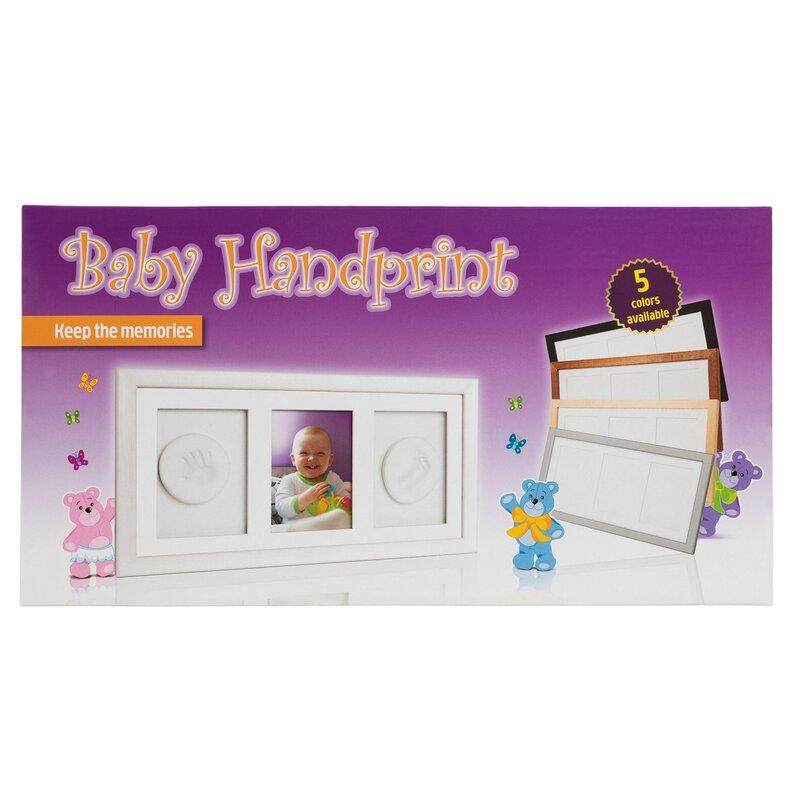 Double Memory Frame Natur Baby HandPrint