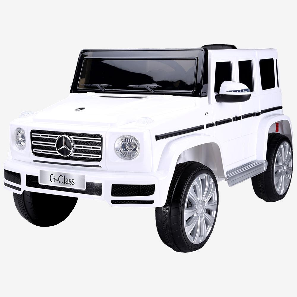 Masinuta electrica pentru copii Mercedes G500 alb