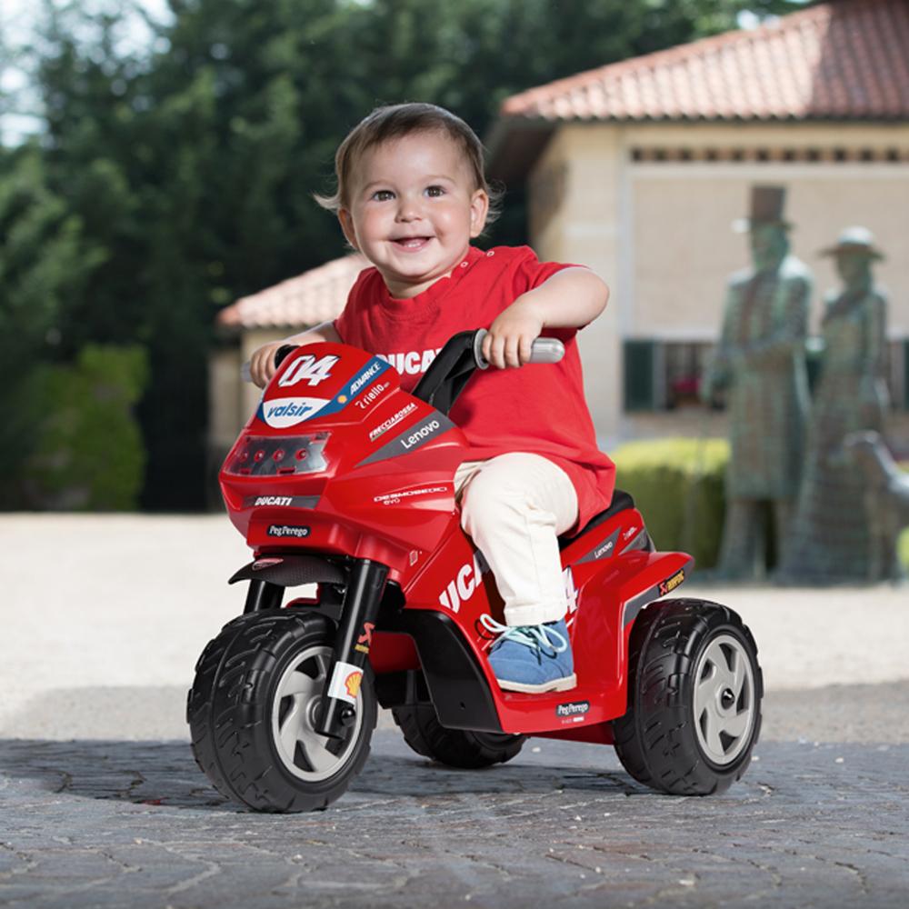 Motocicleta electrica Peg Perego Ducati Mini Evo 6V 1 an + negrurosu