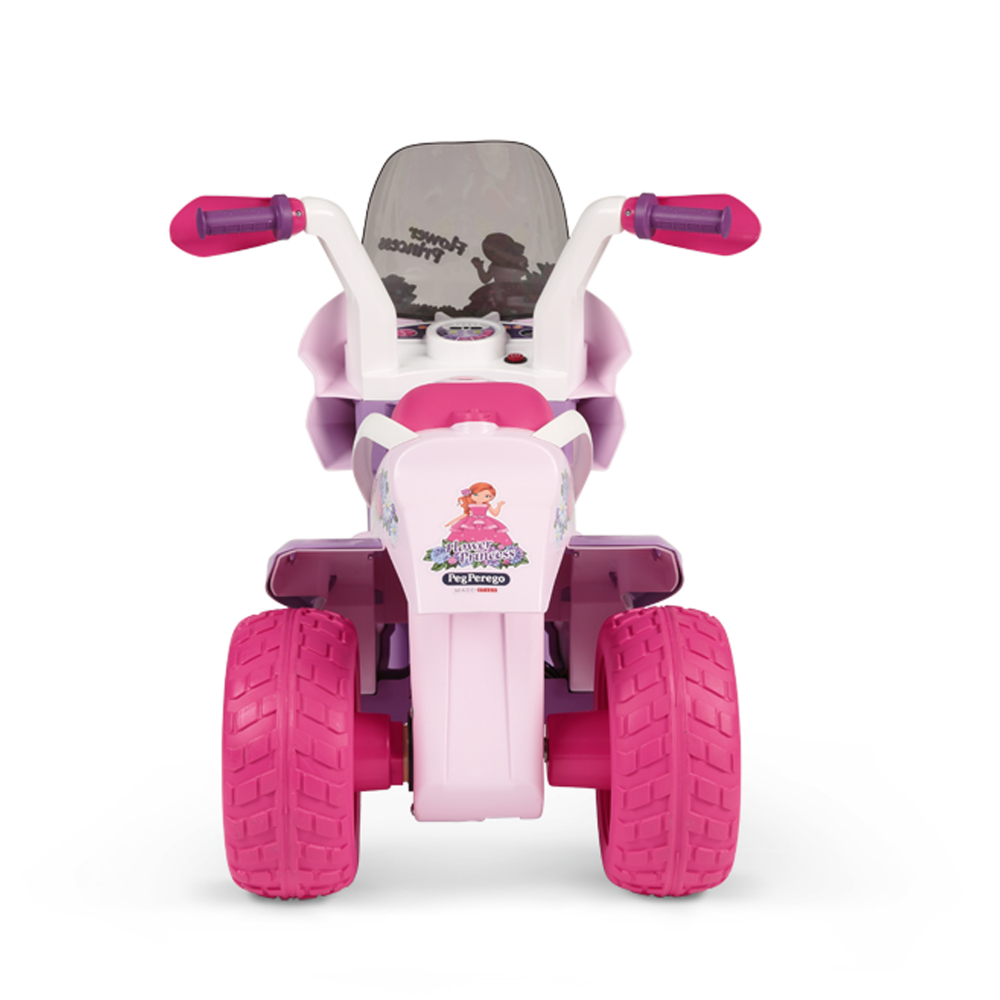 Motocicleta electrica Peg Perego Flower Princess 6V 2 ani + rozmov