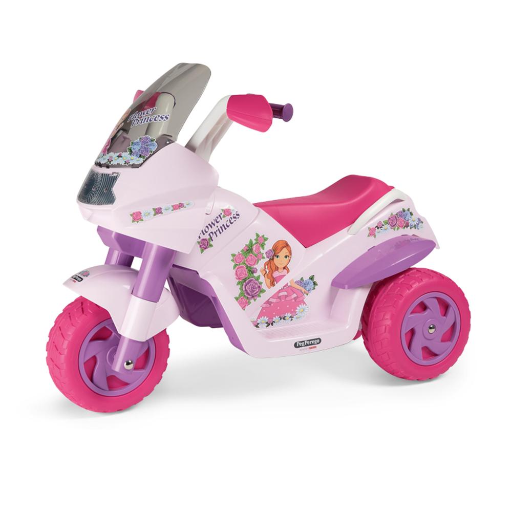 Motocicleta electrica Peg Perego Flower Princess 6V 2 ani + rozmov - 1
