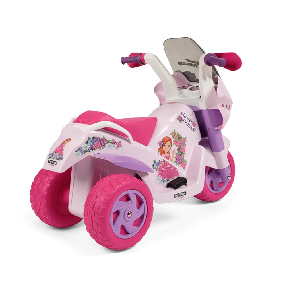 Motocicleta electrica Peg Perego Flower Princess 6V 2 ani + rozmov - 2