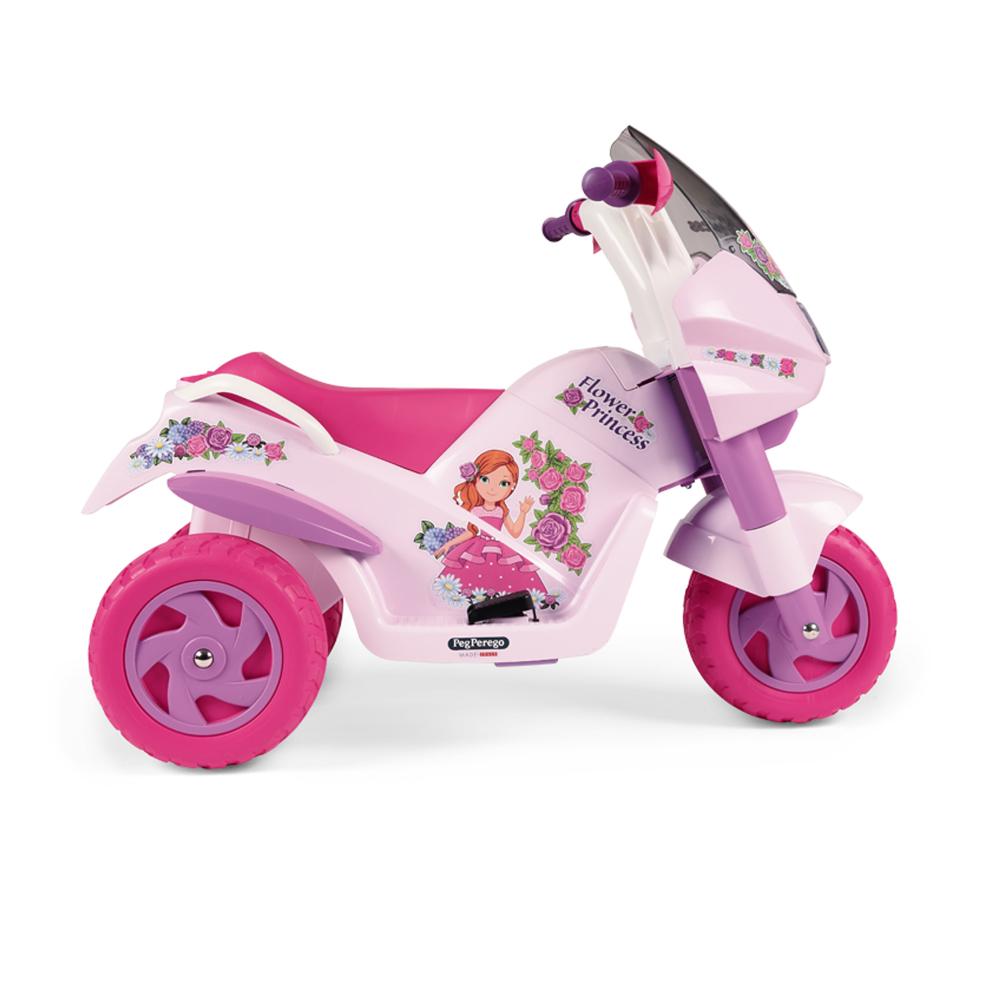 Motocicleta electrica Peg Perego Flower Princess 6V 2 ani + rozmov - 3