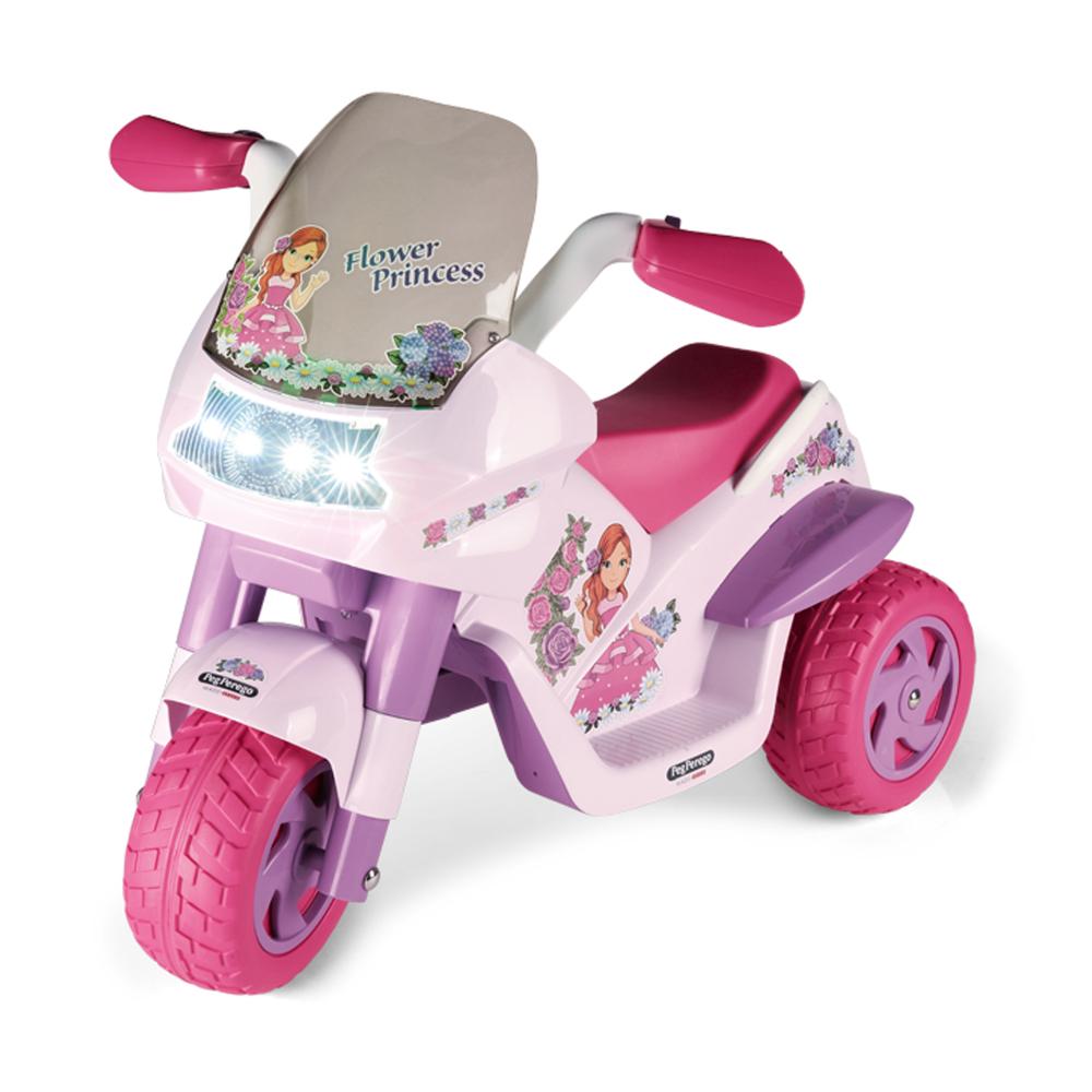 Motocicleta electrica Peg Perego Flower Princess 6V 2 ani + rozmov - 4