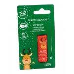 Balsam de buze vegan zero plastic Happy Editie Limitata de Craciun Beauty Made Easy 5,5 g
