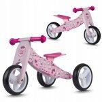 Bicicleta din lemn fara pedale 2 in 1 Ricokids rc 617 roz