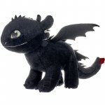 Jucarie din plus how to train your dragon toothless aripi fosforescente 40 cm