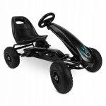Kart cu pedale si roti gonflabile gokart rk 590 Ricokids negru