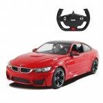 Masina cu telecomanda BMW M4 rosu cu scara 1 la 14