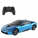 Masina cu telecomanda BMW i8 albastru cu scara 1 la 18