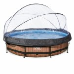 Piscina rotunda cu protectie Dome si pompa cu filtru Exit Toys - 360x76cm 12v