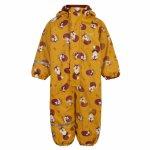 Costum intreg impermeabil captusit fleece pentru ploaie, vreme rece si vant CeLaVi 100 cm Red Fox