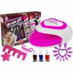 Set pentru unghii manichiura si pedichiura pentru copii cu lampa de uscare LeanToys